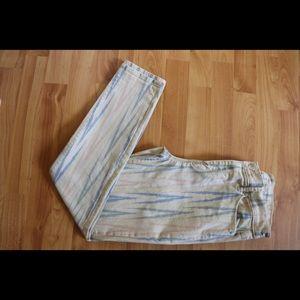 Loft Ikat , modern skinny ankle jean